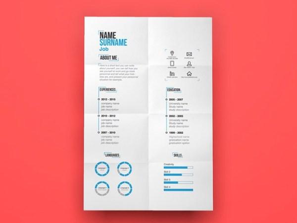 Free Minimal Resume Template 01