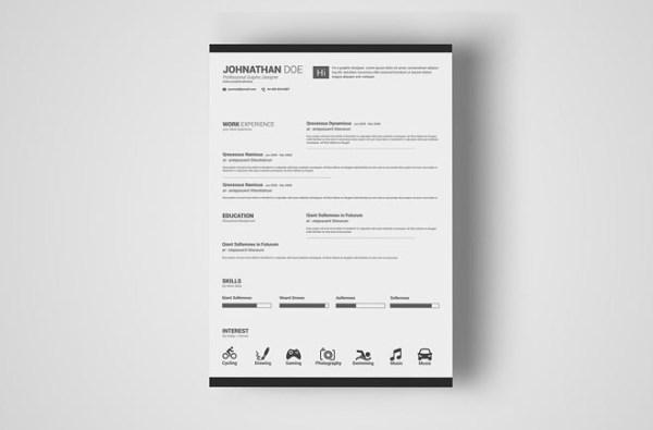 Free Minimal Resume Template 25