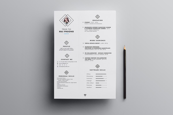 Free Simple CV Template 01