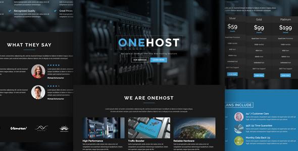 Hosting WordPress Theme WHMCS 13