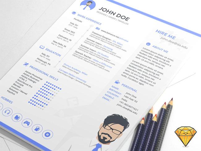 Free Sketch Resume Template 01