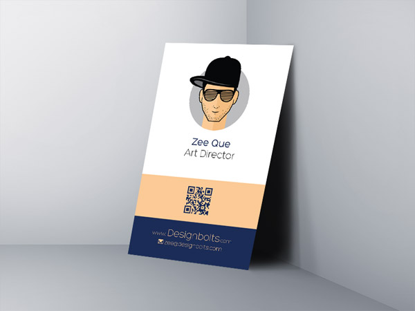 Free Vertical Business Card Template 01