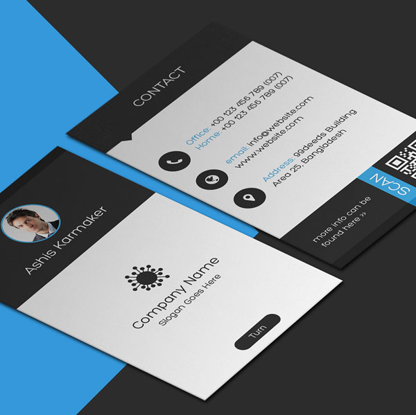 Vertical Business Card Template Free: 30 Free Vertical Business Card Templates