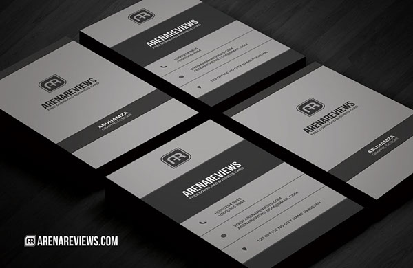 Free Vertical Business Card Template 10
