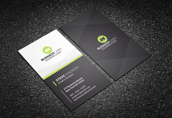 Free Vertical Business Card Template 29