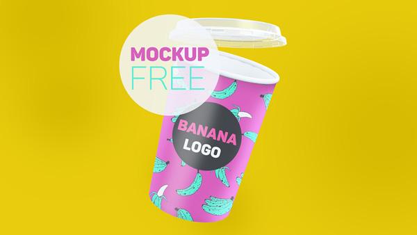 Realistic Paper Cup Mockup 03