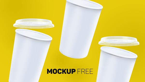 Realistic Paper Cup Mockup 04