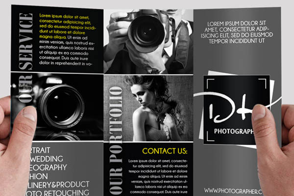 Free Trifold Brochure Templates You Should Download - Photography brochure templates free