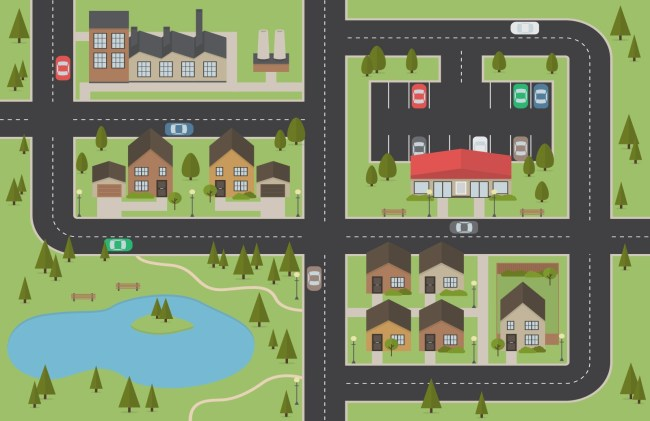 Free Vector City Map Template AI