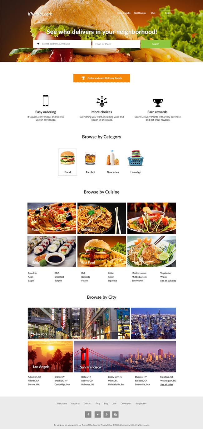 Online Delivery PSD Website Template 01