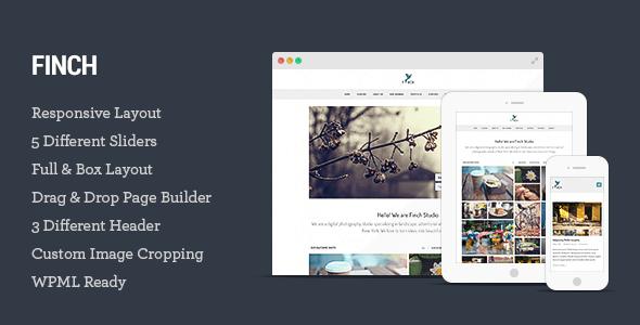 flat photography WordPress themes