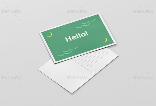 10 a6 postcard mockup templates for your presentation -, Presentation templates
