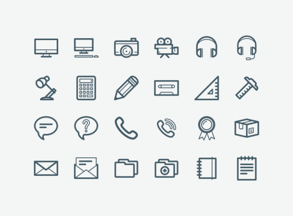 20 Free Office Icon Sets for Interface Project