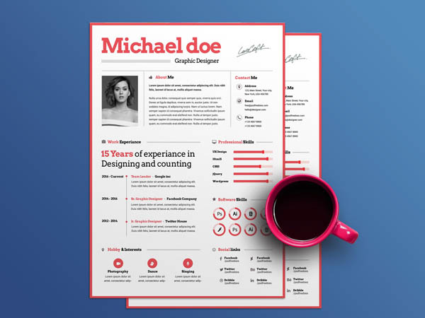 10 Free Attractive Resume Templates for Maximum Impression