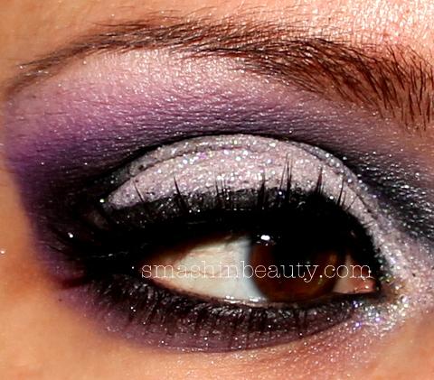 Dramatic Purple Silver Glitter Eyeshadow | SMASHINBEAUTY