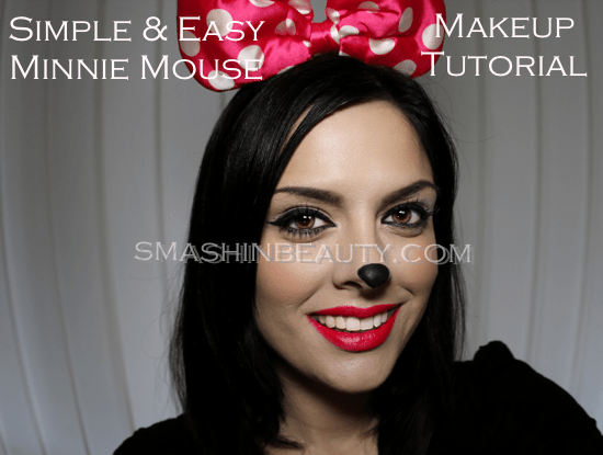 Very Simple & Very Easy Minnie Mouse Makeup Tutorial (Halloween ...