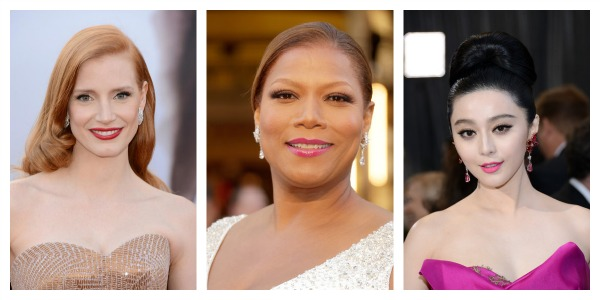 Oscars 2013 Red Carpet Top Pick Beauty Best red lips Jessica Chastain best bold lips fan bingbing Queen Latifah