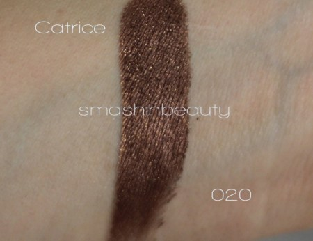 Catrice Intensif´eye 020 Charly´s Chocolate Factory swatches review