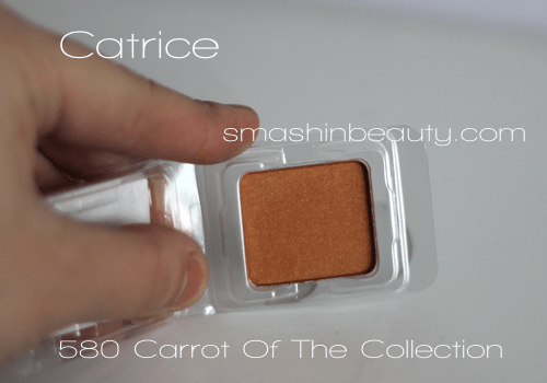 Catrice 580 Carrot of the collection swatches makeup review recenzija sjenila