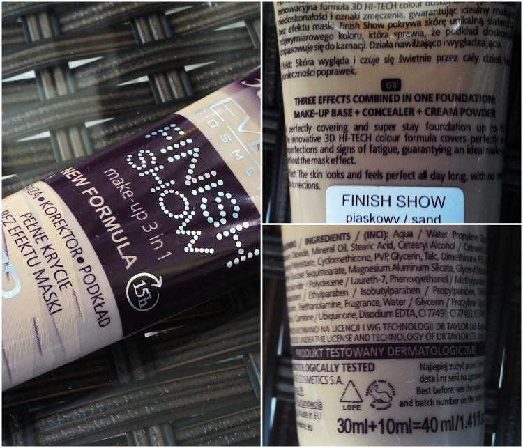 Makeup review- Eveline Cosmetics finish show 3 in 1