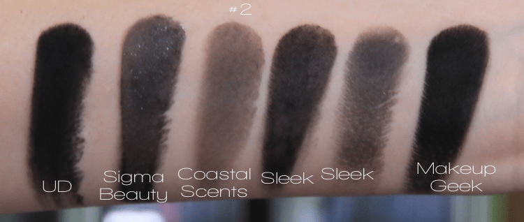 Black Eye Shadow Urban Decay Blackout Sigma Beauty Coastal Scents Sleek Makeup Makeup Geek Corrupt