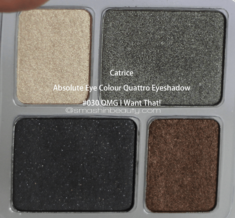 Absolute Eye Colour Quattro Eyeshadow 030 OMG I Want That! makeup review swatches