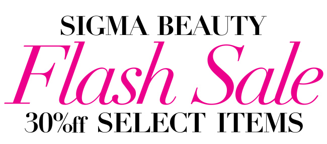 Sigma Beauty 30 Sale coupon