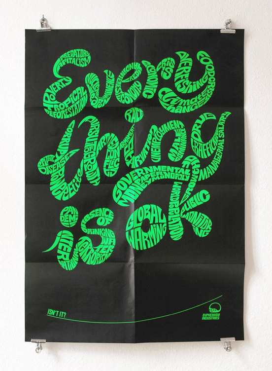 Everything is ok l1 Fantastic Examples of Typography