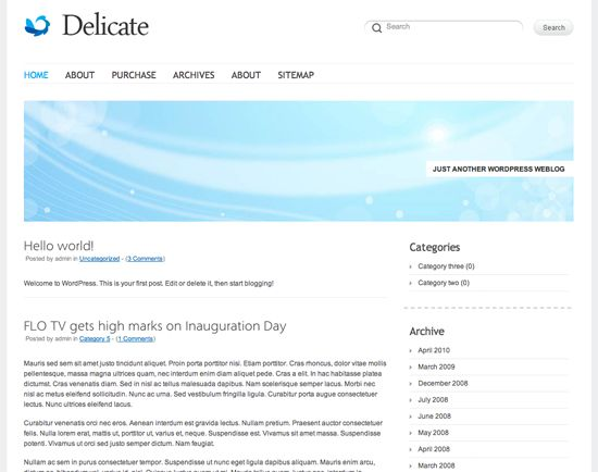 delicate-wordpress-theme