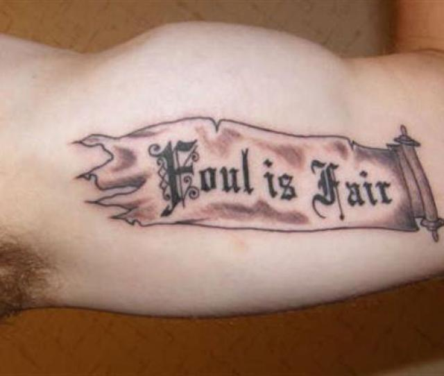 Banner Quote Tattoo