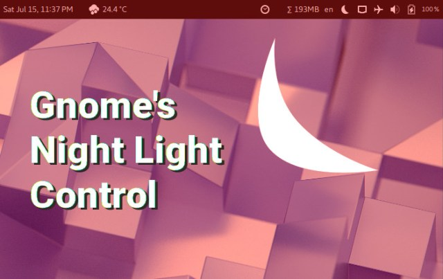 Gnome 3 Night light Intensity