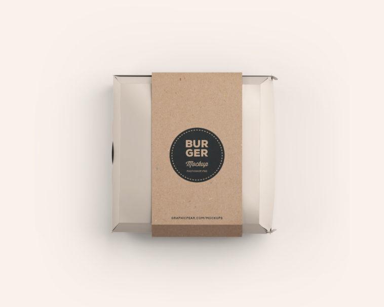 Download Simple Burger Box Mockup - Free Download