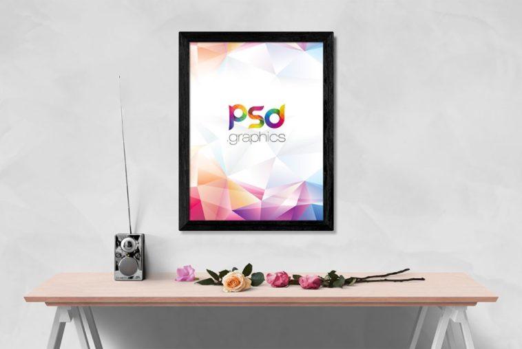Wall Photo Frame Mockup PSD - Free Download