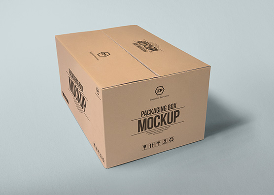 Download Cardboard Packaging Box Mockup - Free Download