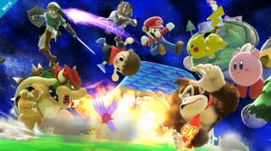 8-player Smash.  This screenshot doesn't even come close to how chaotic this game really is.