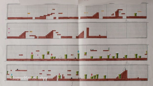 Drafts of Super Mario levels used to be done on graph paper.