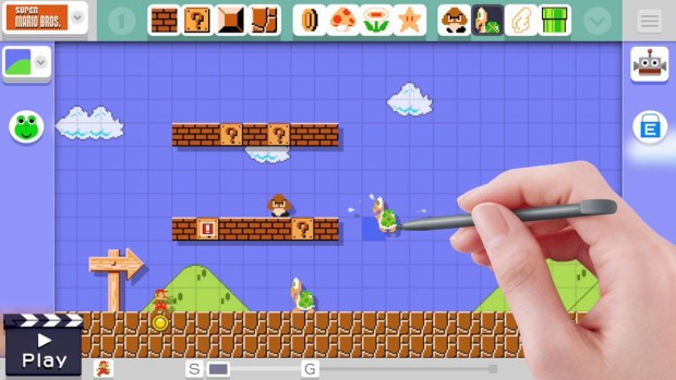 The Wii U GamePad makes it easy to design your own Mario levels. How intricate can you be?