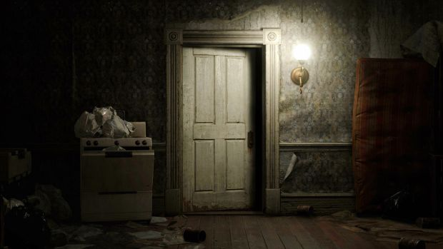 Nothing screams Resident Evil more than a door.