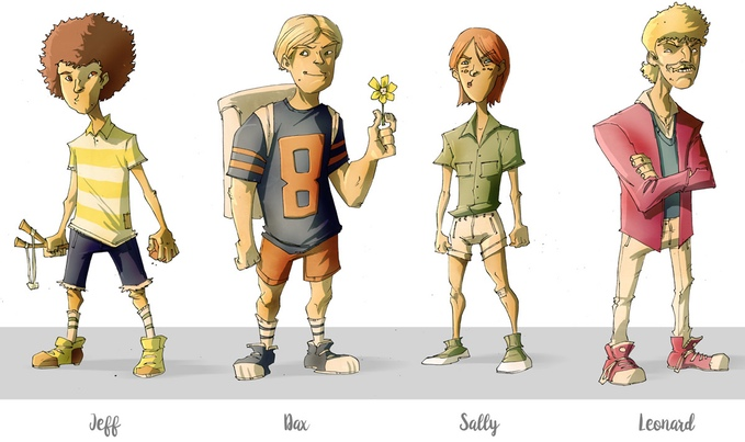 Character designs by Rob Guillory