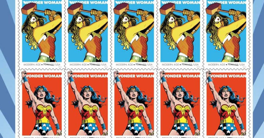 DC, USPS celebrate Wonder Woman's 75th with Forever stamps