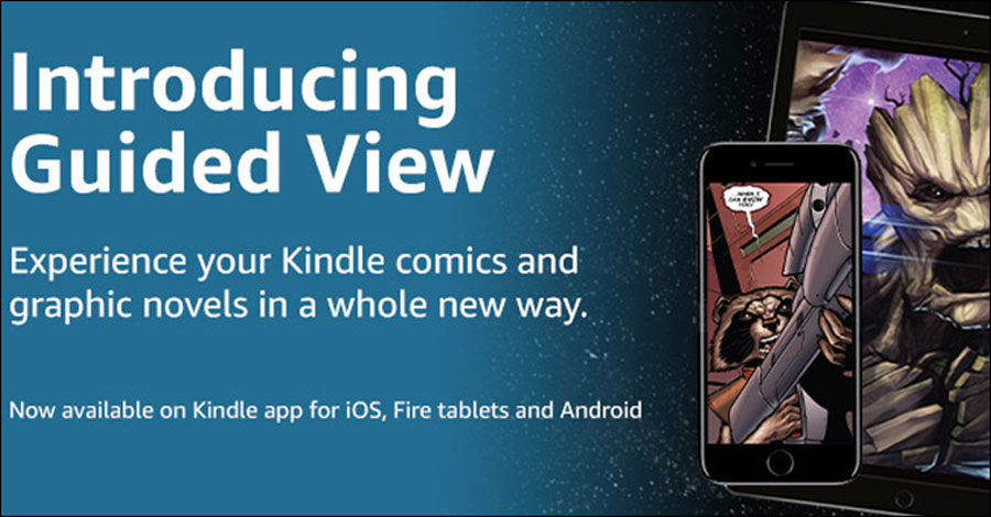 Amazon adds comiXology's 'guided view' to Kindle