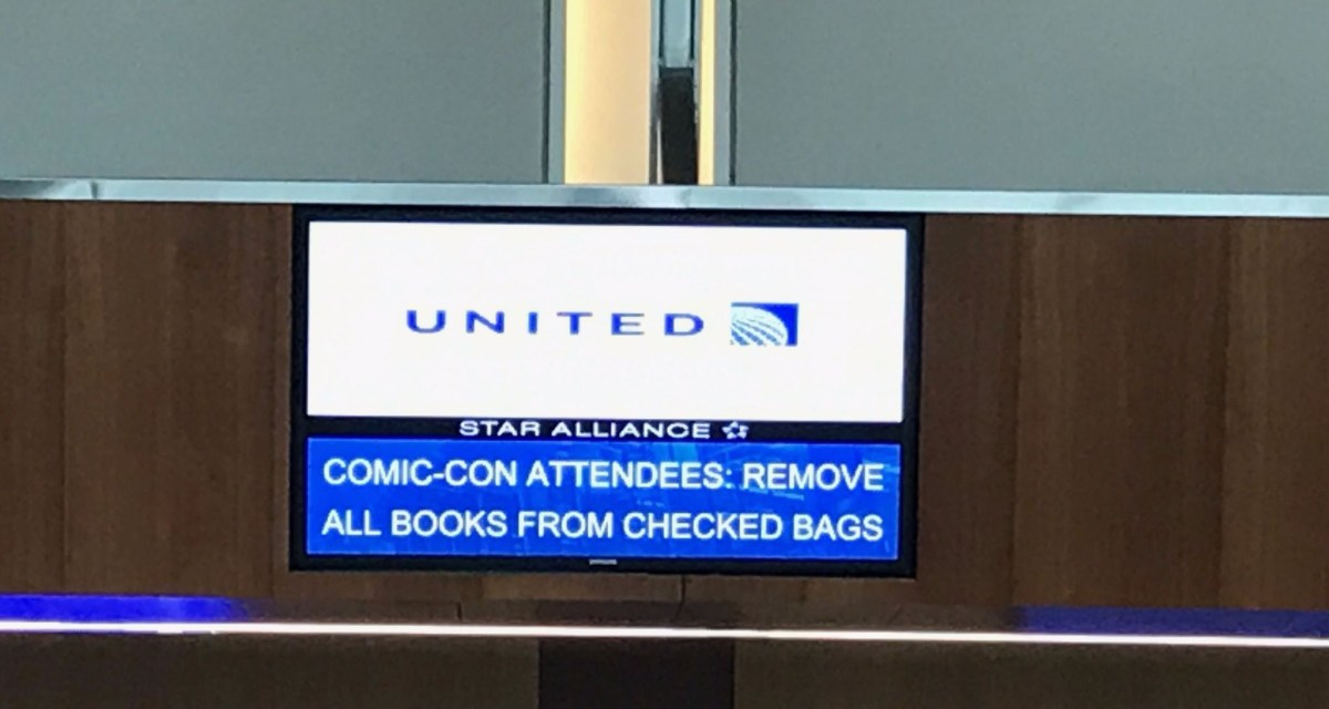 Comics Lowdown: TSA vs United Airlines – are comic books banned from flights?