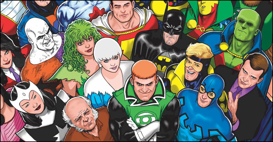 Kevin Maguire covers the 'JLI Omnibus'