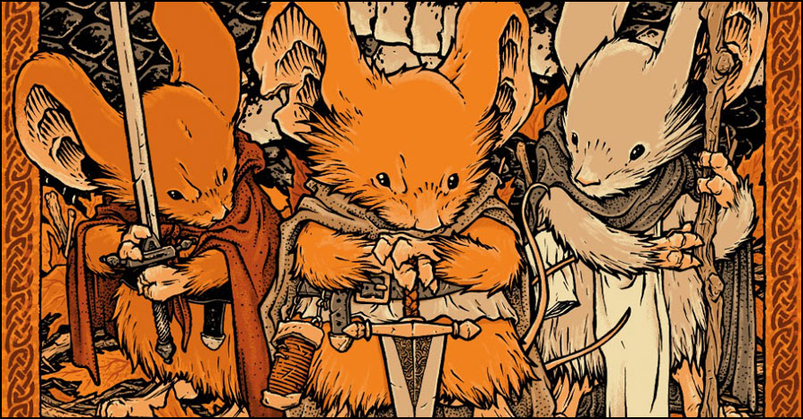 Check out David Petersen's 'Mouse Guard' poster for Mondo