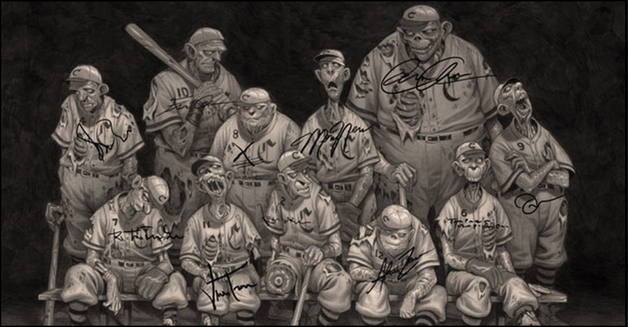 Shawn McManus looks to Kickstart zombie baseball cards