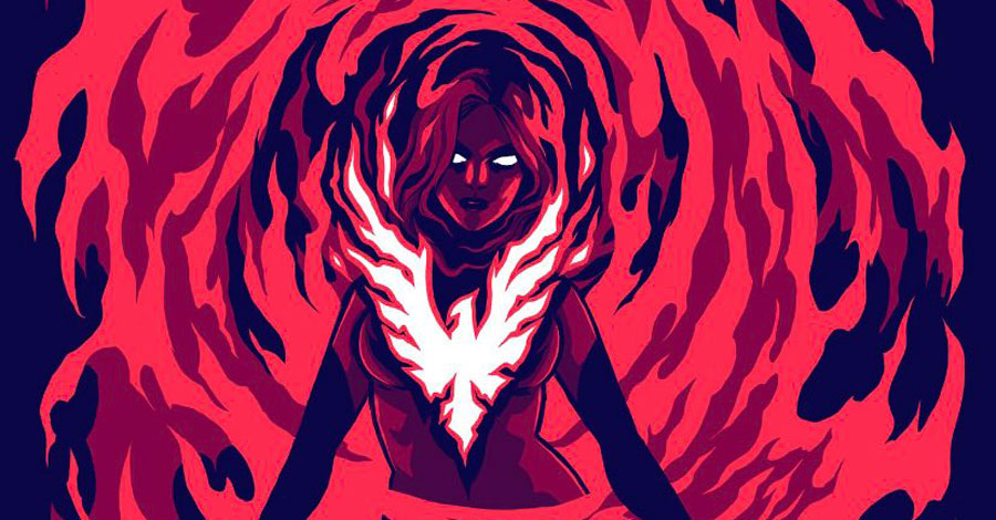 Dark Phoenix rises on Becky Cloonan's Loot Wear shirt