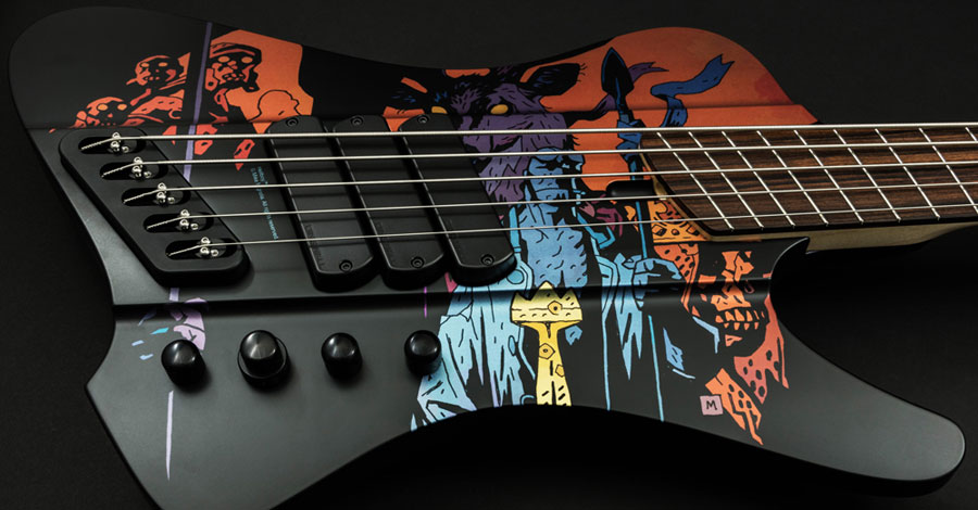 Slap a demonic groove on this Hellboy 5-string bass