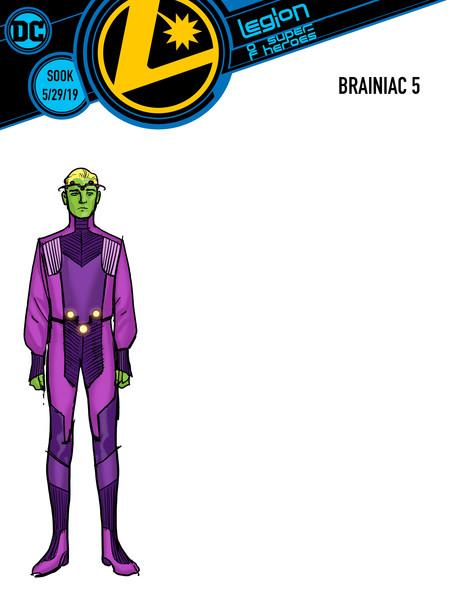 Legion of Super-Heroes Braniac 5 cover by Ryan Sook