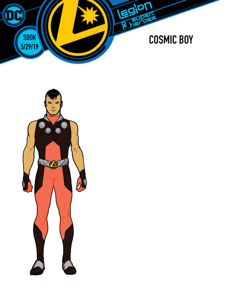 Legion of Super-Heroes Cosmic Boy cover by Ryan Sook