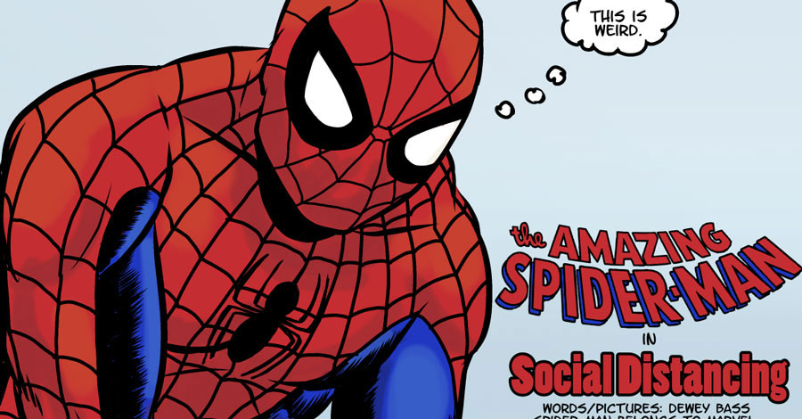 Spidey practices social distancing in this awesome fan comic